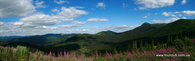 trekking in the Carpathians