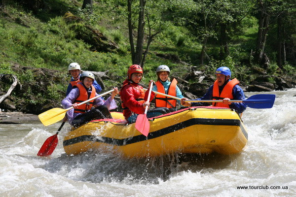 Rafting on the Cheremosh. Raft