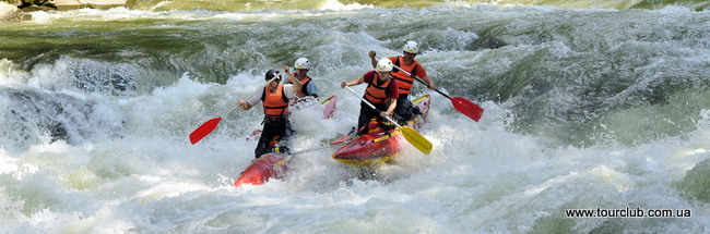 Rafting on the Prut river