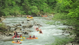 Rafting in the Carpathians