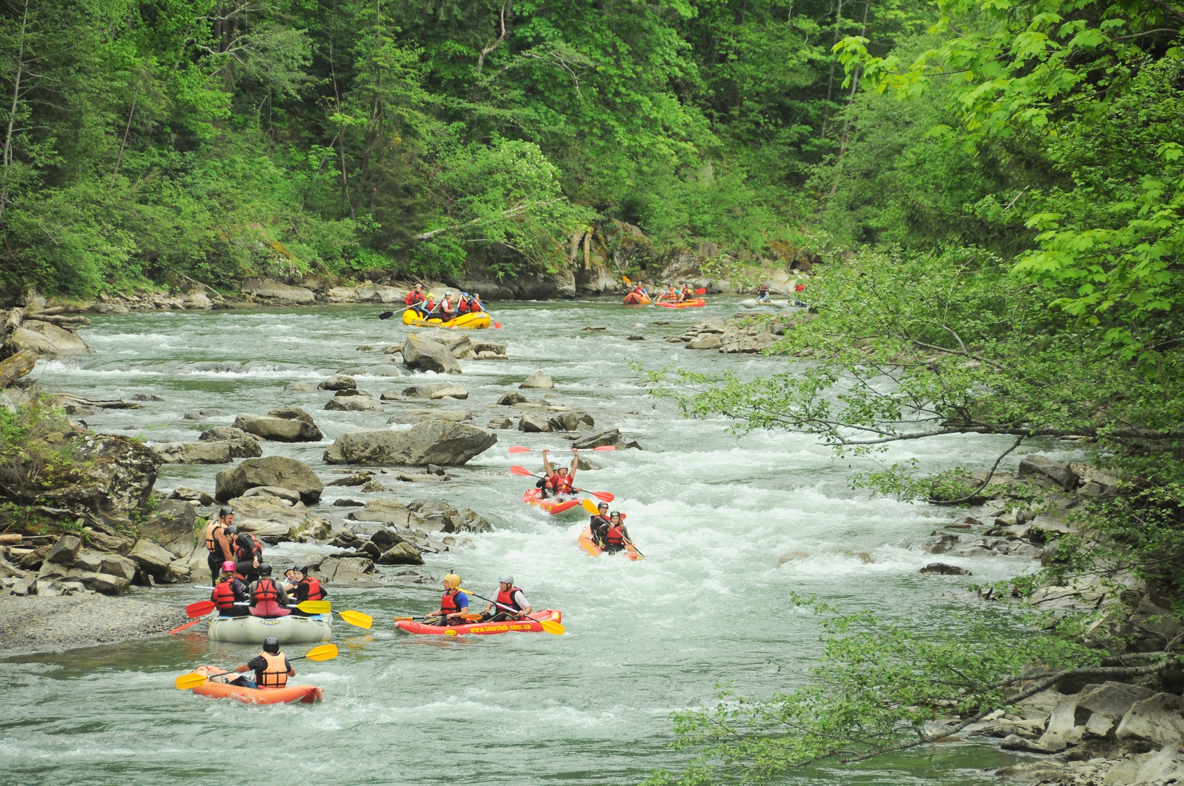 Rafting from Rada Daraba camp