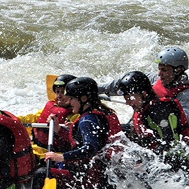 White water rafting on the Cheremosh river