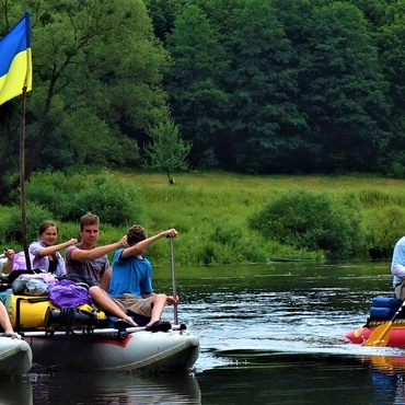 Rafting on Sluch river, 3 days