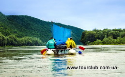 Rafting on the Dniester